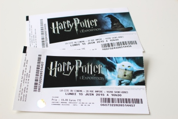 Billets exposition Harry Potter